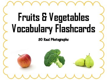 Fruits and Vegetables Vocabulary Flashcards (Speech Therapy)