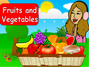 Fruits and Vegetables game - Animated Powerpoint - Smart board Activity