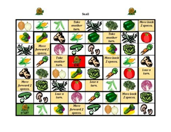 Fruits and Vegetables in English Snail game