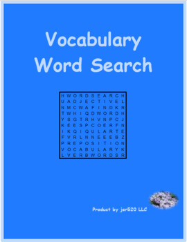 Fruits and Vegetables in English Wordsearch