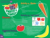 Fruits and Veggies Food Group Lesson Plan
