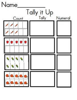 Fruits and Veggies Tally Up