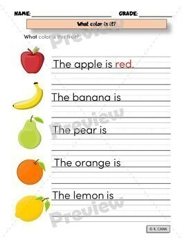 Fruits and Vegetables Vocabulary Activities Hands-On 3