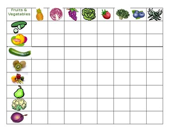 Fruits and vegetables Connect 4 game