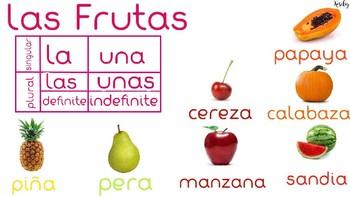 Las frutas y los vegetales categorizados por genero