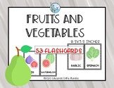 Fruits and vegetables flashcards ENGLISH