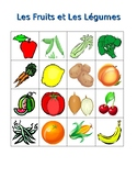 Fruits et Légumes (Fruits and Vegetables in French) Bingo