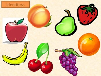 Fruits et Légumes (Fruits and vegetables in French) power point