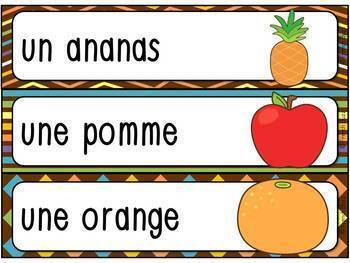 Fruits et légumes - Ensemble - French fruits and vegetables - Bundle