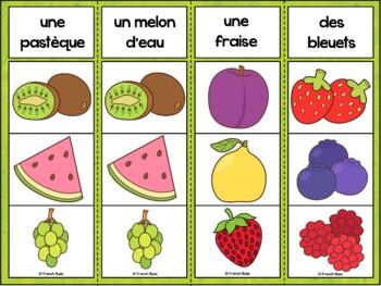 Fruits et légumes - Jeu d'association 2 - French fruits and vegetables