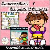 Fruits et légumes et la nourriture - Mur de mots et lexique - French foods