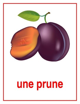 Fruits in French Posters
