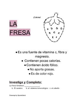 Fruits in Spanish (Frutas en Español)