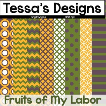 Fruits of My Labor {Digital Paper Pack}