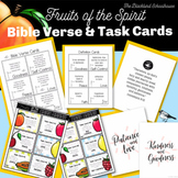 Fruits of the Spirit Bible Verse, Definition Cards and Task Cards
