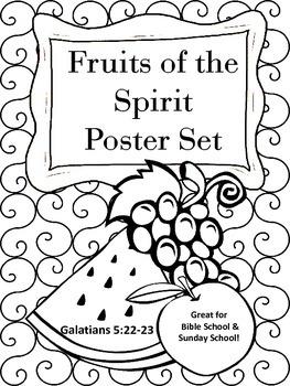 Fruits of the Spirit Black & White Poster Set