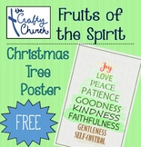 Fruits of the Spirit - Christmas Tree Poster (11x7)