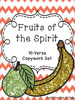 Fruits of the Spirit Copywork