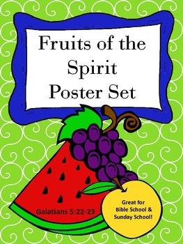 Fruits of the Spirit Full Color Poster Set
