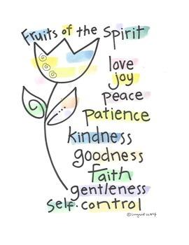 Christian / Catholic Fruits of the Spirit Poster