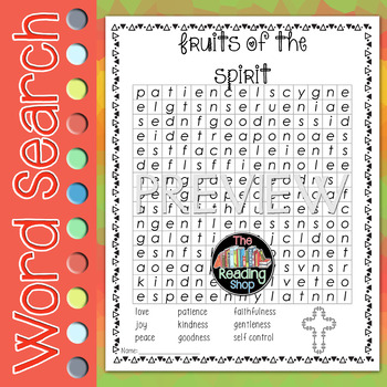 Fruits of the Spirit Word Search Puzzle