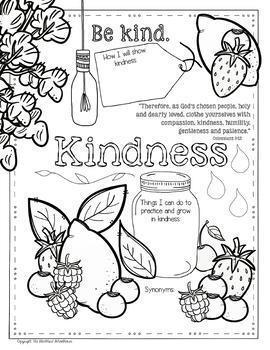 Fruits of the Spirit Worksheets