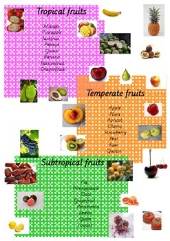Fruits of the World - Classifying Activity Cards & Poster Package