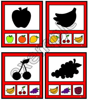 Fruits: ombres