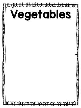 Fruits or Vegetables File Folder Game