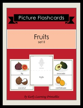 Fruits (set II) Picture Flashcards