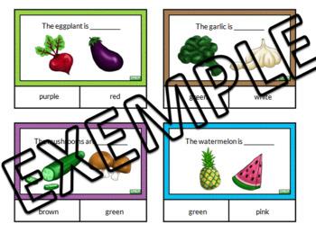 Fruits & veggies task cards