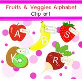Free fruits&Veggies Alphabet Clip Art