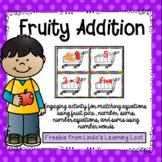Fruity Addition Math Matching  Activity Within 5 Freebie
