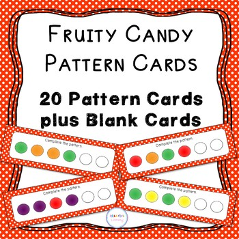 Fruity Candy Pattern Cards