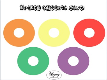 Fruity Cheerio Sort Activity Mat, Printable