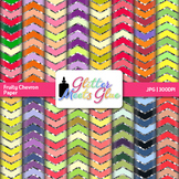 Fruity Chevron Paper {Scrapbook Backgrounds for Task Cards & Brag Tags}