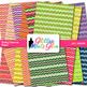 Fruity Chevron Scrapbook Paper Backgrounds {Glitter Meets Glue}