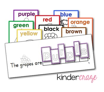 Fruity Colors Booklet and Poster set - Unscramble Color ...