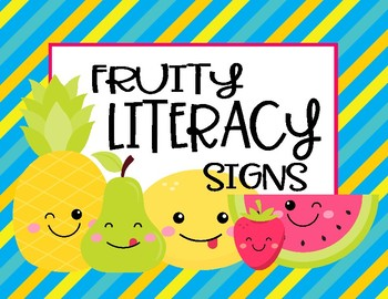 Fruity Daily Literacy Signs