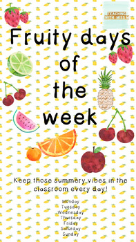 Fruity Days Of The Week #ausbts18