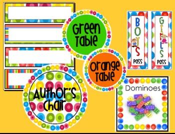 Fruity Dots Classroom Organization Mega-Pack!