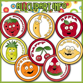 Fruity Faces Bottlecap Images