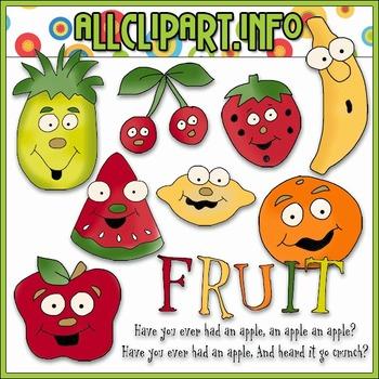Fruity Faces Clip Art - Cheryl Seslar Clip Art