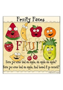 Fruity Faces Clipart Collection~FRUIT CLIPART