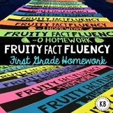 Fruity Fact Fluency: First Grade Homework