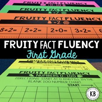 Fruity Fact Fluency: First Grade Year Long Program