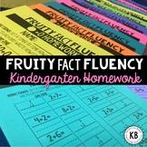 Fruity Fact Fluency: Kindergarten Homework