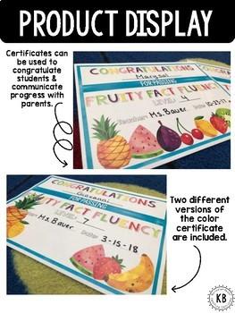 Fruity Fact Fluency: Second Grade Year Long Program