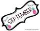 Fruity Flamingos Calendar Months FREEBIE