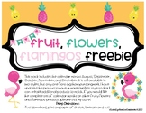 Fruity Flamingos Calendar Months FREEBIE